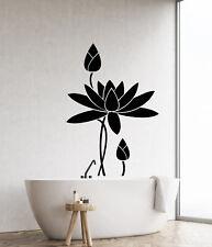 Vinyl Wall Decal Lotus Flower Water Lily Bathroom Decor Garden Stickers (2695ig)
