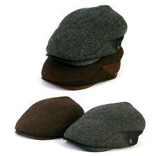 Unisex Mens Suit Dress Tweed Flat Cap Newsboy Cabbie Gatsby Golf Driver Hats