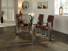 Louvre Ultra Modern Rectangular 160cm Dining Table & Steel Frame Dining Room