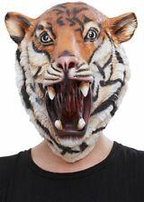 NEW Latex Tiger Mask - Animal Funny Fancy Dress Accessories - Full Head