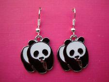 Funky Oso Panda pendientes Fauna Animales Retro Lindo Dulce Cartoon Zoo encanto