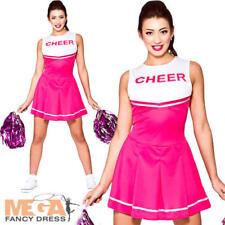 PINK High School Cheerleader Ragazze Costume Sport Costume Da Donna Adulti