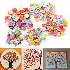 Generico DIY Colore Casuale Lotto di 100 Bottoni da cucire Artigianato per bP4N5
