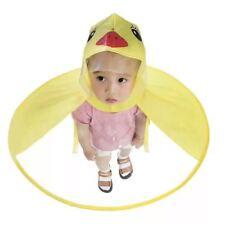 Cute Cartoon Duck Kids Raincoat Umbrella UFO Rain Hat Cape Foldable HOT Pleasing
