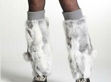 Fur Leg Warmer For Ladies Winter Fashionable Warm Thick Stockings Legs Accessory
