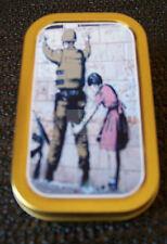 Banksy Soldier Searched By A Girl   graffiti 1 & 2oz Tobacco/Storage Tins