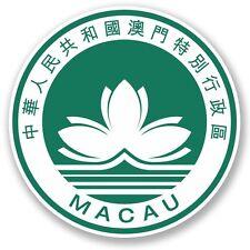 2 x Macau Macao Vinyl Sticker Laptop Travel Luggage Car #5377