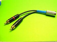 Hochwertiger Audioadapter  Cinch Stecker auf 5pol. Din für Dual Plattenspieler