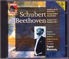 Evgeny MRAVINSKY: SCHUBERT Symphony No.8 Unfinished BEETHOVEN Sinfonie 1 Gold CD