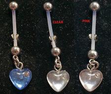 HEART & GEM MATERNITY PREGNANCY NAVAL BELLY RING PTFE BIOFLEX 14G 22MM