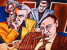 THE SOPRANOS PRINT poster james gandolfini hbo series cigars smoke coffee mafia