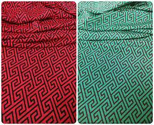Diamond Geo Interlock Pattern on Stretch Bulgari Jersey Polyester Spandex Fabric
