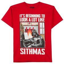 STAR WARS Darth Vader Christmas Tee MERRY SITHMAS T SHIRT The Force Awakens BOYS