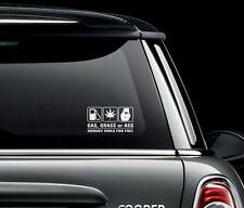 gaz herbe ou Ass PARE-CHOC voiture autocollant Art IMAGE Humour Drôle voyages