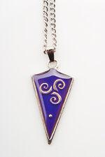 Celtic Triskelle Shield Mood Colour Changing Necklace