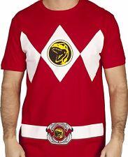 Power Rangers Men's New (MIGHTY MORPHIN POWER RANGERS COSTUME RED)License shirt
