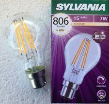 PACKS OF SYLVANIA 7W = 60W B22 Dimmable LED Filament GLS WARM WHITE WW 2700K