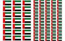 United Arab Emirates Flag Stickers rectangular 21 or 65 per sheet