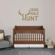 Crawl Walk Hunt Wall Decal - Animals, Hunting, Sports, Kids, Nursery, Wall Art