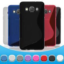 Funda de silicona Samsung Galaxy A7 (A700) S-Style -  + protector de pantalla