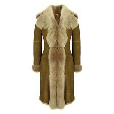 Ladies Super Luxury Toscana 3/4 Coat Real Sheepskin Beaver Shearling Jacket
