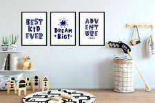 Bleu Marine Enfants Chambre à coucher/Nursery Imprime/Photo/Art style scandinave Pt.1