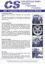 SMART CS TUNING prospetto 1999 auto prospetto opuscolo brochure broschyr brosjyre
