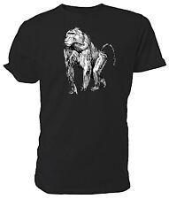 Babuino T Shirt, Selección de tamaño y colores, negro y blanco dibujo de línea