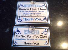 Voiture Signe Porte Signe Handicapé L'Accès Non Canvassers