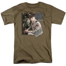 Elvis Presley T-Shirt GI Blues Army Dog Tag Safari Tee