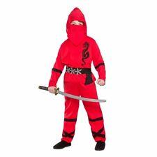 Red Power Ninja Kids Disfraz de Halloween Artes Marciales Japonesas