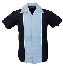 Rockabilly Bowling Navy/Sky shirts Vintage/retro Shirts