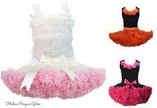 Filles pettiskirts coton ballet tutu jupe danse anniversaire occasion tenue d'été