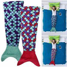 Kids Girls Mermaid Fish Tail Blanket Soft Beach Quilt Sleeping Bag Cocoon Sofa
