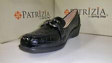 Patrizia by Spring Step Women's Caiman Black Shoes size US 5.5-10 EUR 36-41