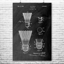 Badminton Shuttlecock Poster Print Badminton Decor Tennis Player Gift