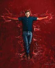 Dexter Michael C. Hall sangue televisione POSTER TV A4 A3 Art Print