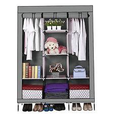 DIY Dust Proof Fabric Canvas Clothes Storage Organiser Wardrobe Shelves Cabinet