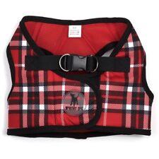 The Worthy Dog SideKick Harness Red Plaid Extended Sizes Tiny - XXXL