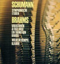 SCHUMANN SYMPHONISCHE ETÜDEN BRAHMS VARIATIONEN & FUGE WILHELM KEMPFF LP (L7986)