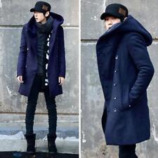Mode Hommes coréen à capuche Hiver Chaud manteau parka long