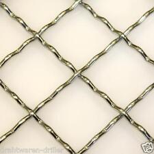 Wellengitter verzinkt 2000x1000 mm Gittermatte aus gewobenen Drähten Gitter Zaun