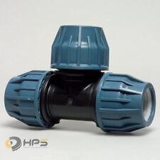 PE Rohr T-Stück Verschraubung in verschied. Größen, DVGW Trinkwasser