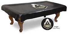 Purdue Pool Table Cover w/ Boilermakers Logo - Black Vinyl