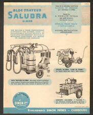 """CHERBOURG (50) MACHINE à TRAIRE le LAIT """"SALUBRA / SIMON Freres"""""""