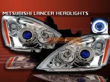 2004-2006 MITSUBISHI LANCER PROJECTOR HEADLIGHTS CHROME HALO CCFL