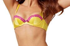 AGENT PROVOCATEUR Lucie Silk Bra Yellow/Pink BNWT