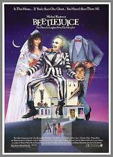 Beetle Juice.  1980's Movie Posters Classic Cinema