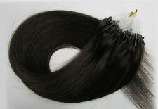 """18""""-26"""" Micro Loop Ring Tube Remy Human Hair Extensions 50/100g #2 Darkest Brown"""
