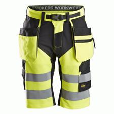 Snickers 6933 FlexiWork Hi-Vis Holster Pocket Shorts Class 1